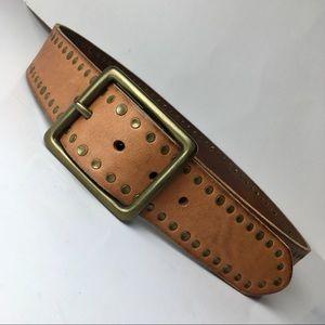 Banana Republic large brass buckle belt S:M